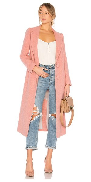 Nicholas Long Double Coat in pink - Self: 90% wool 10% nylonLining: 100% poly. Dry clean...