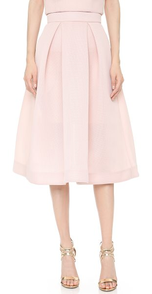 Nicholas Mesh ball skirt in blush - This Nicholas skirt is cut from fused mesh for a padded,...