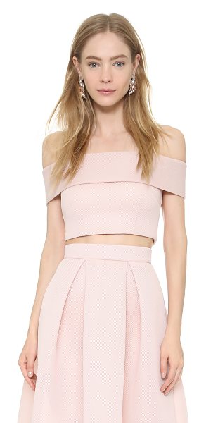 NICHOLAS Mesh off shoulder top - This off shoulder Nicholas crop top is cut from fused...
