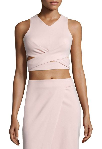 "NICHOLAS Ponte Crop Top W/Crisscross Waist - Nicholas crop top in ponte. Approx. measurements: 15""L..."