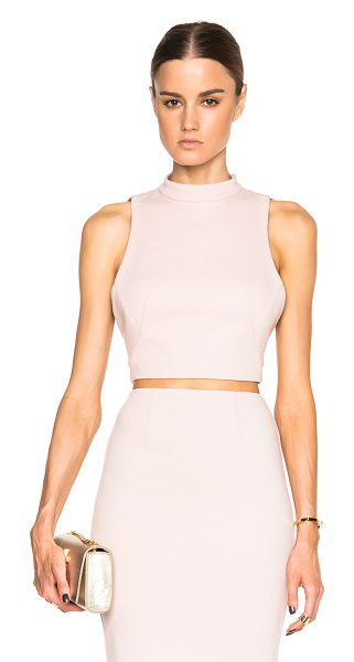 Nicholas Ponti open back crop top in pink - Self: 72% poly 23% viscose - Lining: 95% poly 5%...