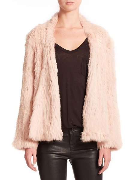 Nicholas Rabbit fur jacket in blush - Richly draped in rabbit fur, this sumptuous jacket...