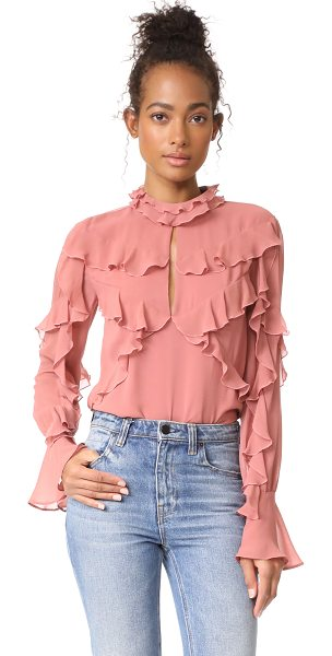 NICHOLAS ruffle layered blouse - Flounced ruffles lend movement to this silk-crepe...