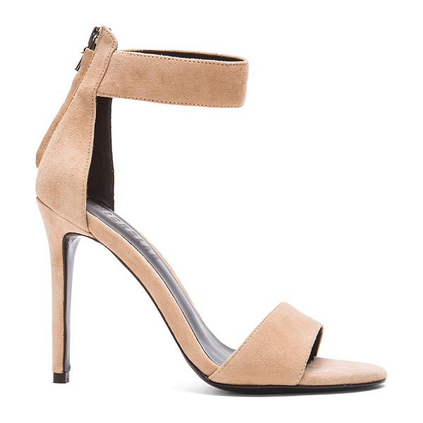 NICHOLAS Sofia heel in neutrals - Suede upper with leather sole.  Made in China.  Approx...
