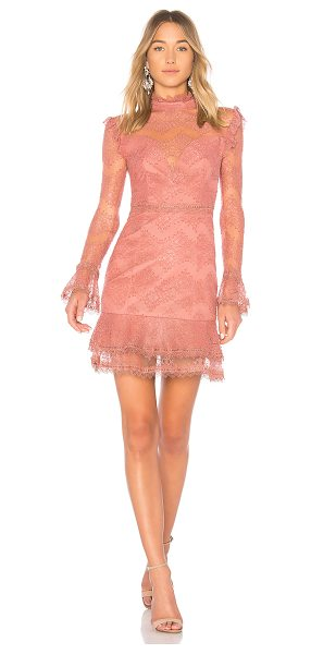 Nicholas Thalia Dress in rose - Self: 51% cotton 49% nylonLining & Contrast: 100% poly....