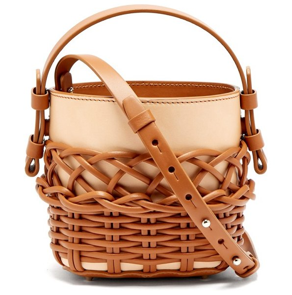 Nico Giani adenia mini woven leather bucket bag in tan - Nico Giani - Nico Giani's reworked Adenia bag will...
