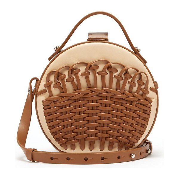 Nico Giani amelia braided leather cross body bag in tan - Nico Giani - Nico Giani draws on symmetrical 1950s and...