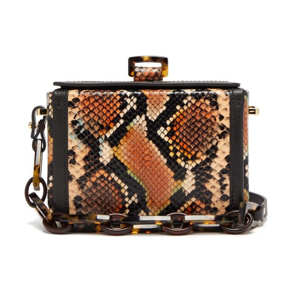 Nico Giani cerea mini python effect leather box bag in python