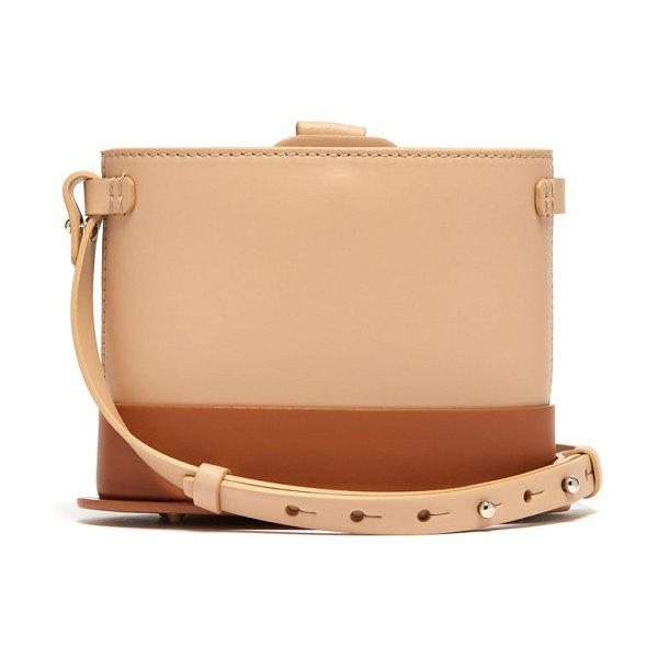 Nico Giani frerea mini leather cross-body bag in tan multi
