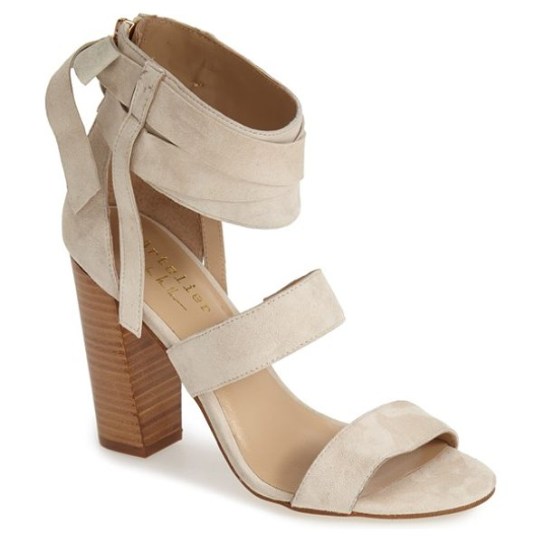 Nicole Miller artelier pompano sandal in sand suede - Wraparound ankle straps heighten the casual...