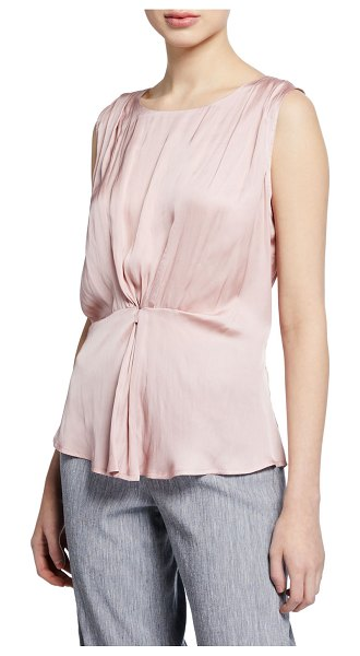 Nic+Zoe Destination Sleeveless Cinched Top in dark rose tint