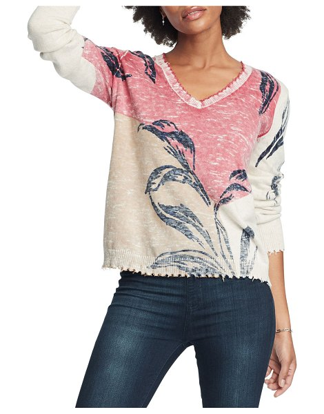 Nic+Zoe Easy Day Sweater in pink multi