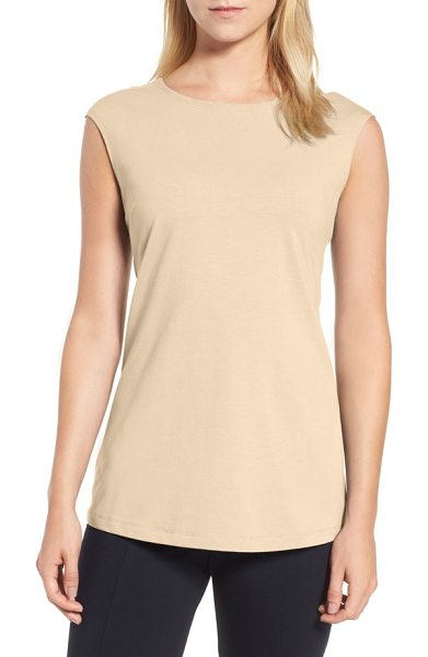 Nic+Zoe 'perfect layer' tank in sandshell - A soft jersey tank in a slim cut with a higher neckline...