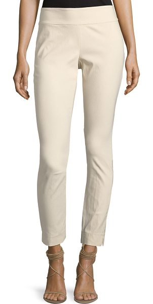 "Nic+Zoe Slim Wonderstretch Pull-On Pants in sand - NIC+ZOE ""Wonderstretch"" pants in stretch-crepe. Sits..."