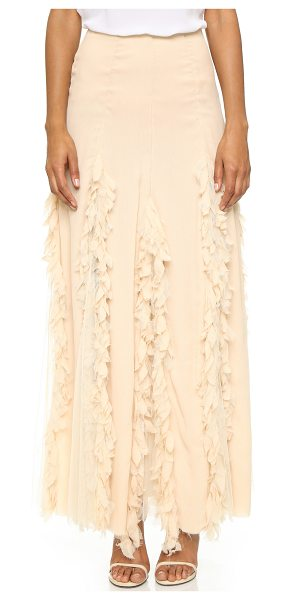 NIGHTCAP X CARISA RENE Carisa rene maxi skirt in champagne - An ethereal Nightcap Clothing maxi skirt composed of...