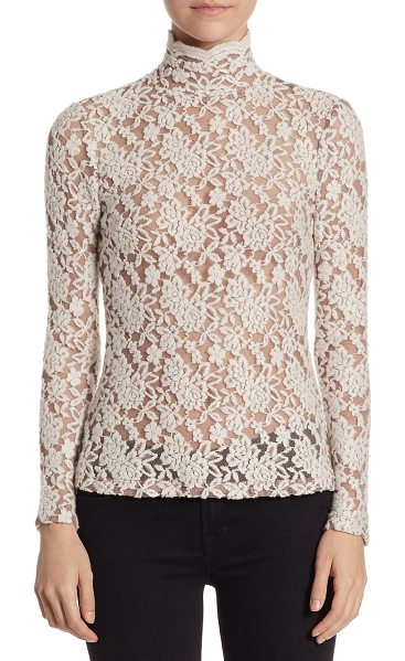 Nightcap floral lace sweater in cream - A beautiful floral lace sweater in a luxe wool blend....