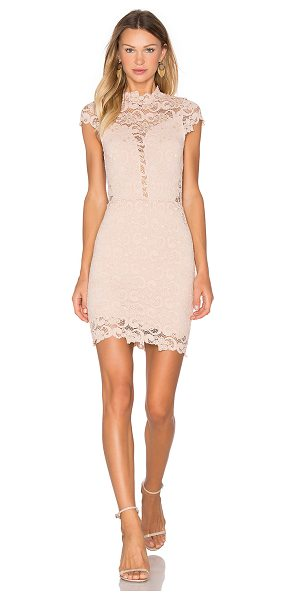 Nightcap Dixie Lace 16th District Mini Dress in blush - Self: 89% polyamide 8% elastane 3% viscoseLining: 95%...
