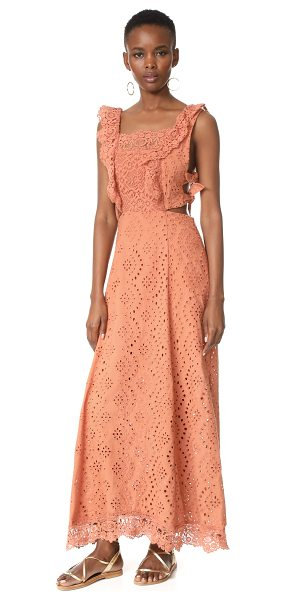 Nightcap x Carisa Rene aimee eyelet maxi dress in copper - A romantic Nightcap x Carisa Rene maxi dress with tonal...