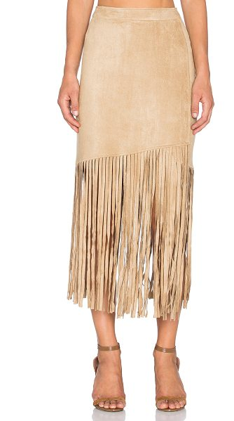 Nightwalker Saloon skirt in tan - 91% poly 9% spandex. Hand wash cold. Unlined. Hidden...