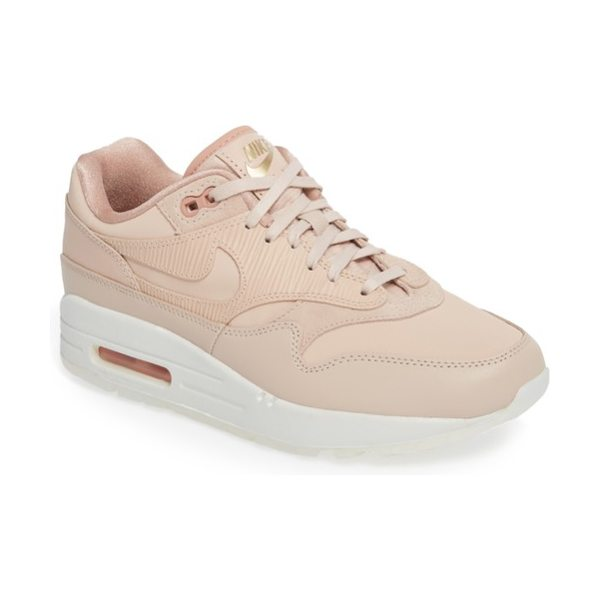Nike air max 1 premium sneaker in particle beige/ particle beige - A classic Nike sneaker is reimagined in fresh new...