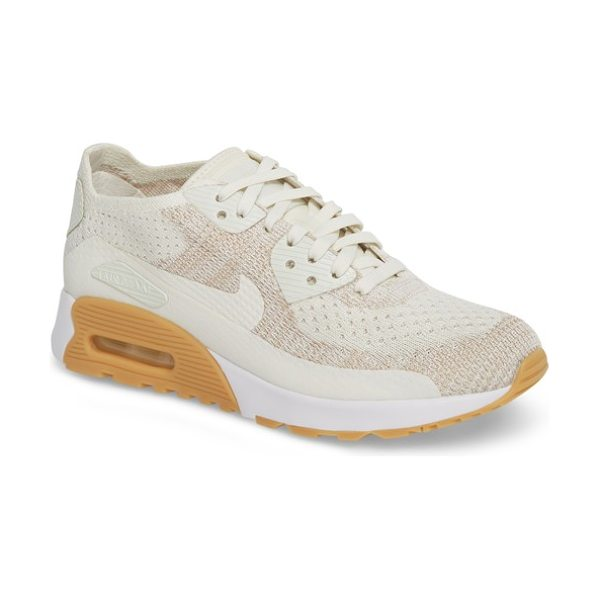Nike air max 90 flyknit ultra 2.0 sneaker in sail/ white/ sand - Reinvented for the next generation, this retro-classic...
