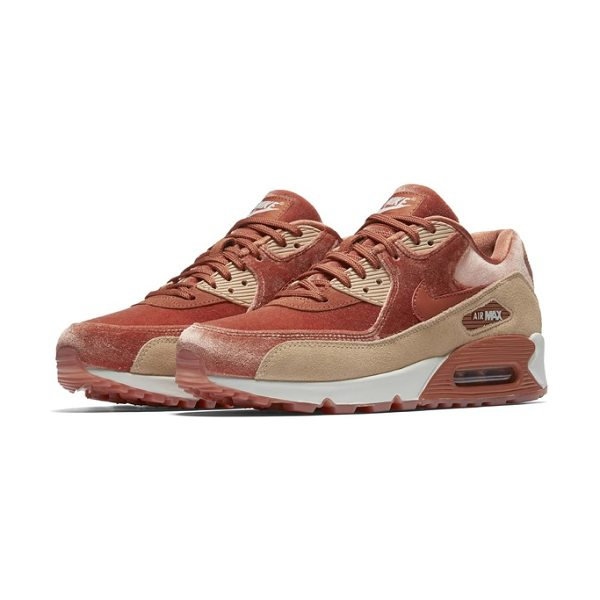 Nike air max 90 lx sneaker in dusty peach/ dusty peach - A faux fur upper adds luxe texture to a retro-inspired...