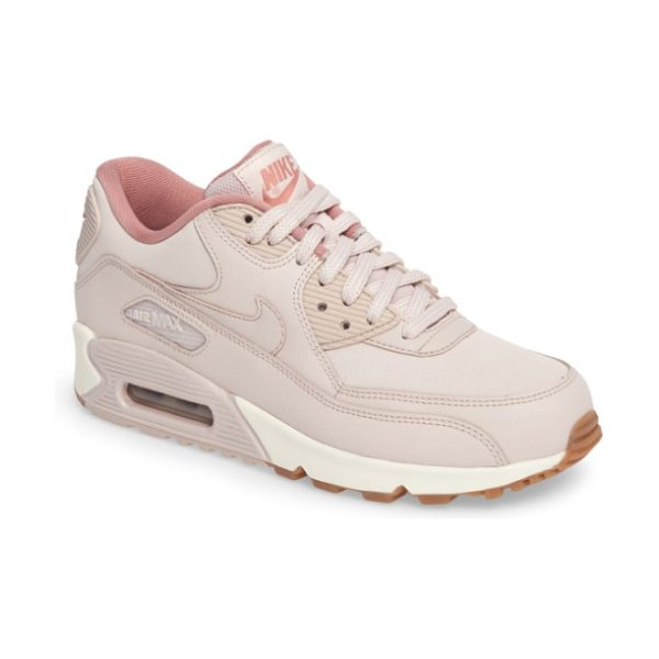 Nike air max 90 sneaker in pink - A classic sneaker in smooth leather features a cushioned...