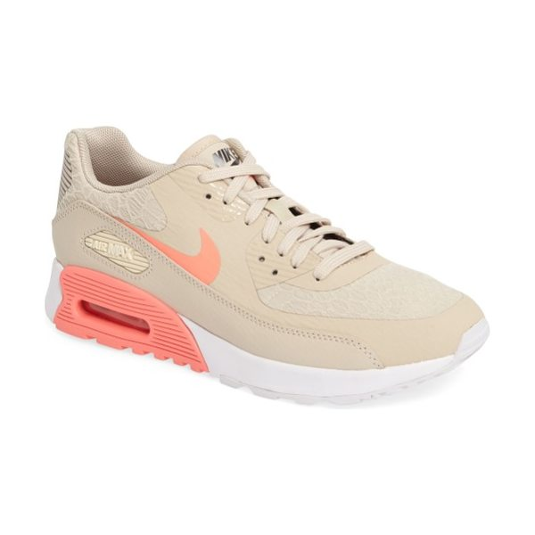 Nike air max 90 ultra 2.0 sneaker in oatmeal/ glow/ white/ grey - A lightweight, cushioned footbed and Air Max unit...