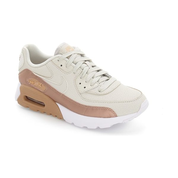 Nike air max 90 ultra se sneaker in light bone/ mettalic red - A subtle metallic sheen adds a fresh twist to a standout...