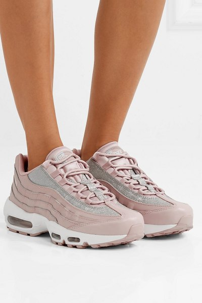 Nike Air Max 95 Glittered Leather And Suede Sneakers  2b7d701f3