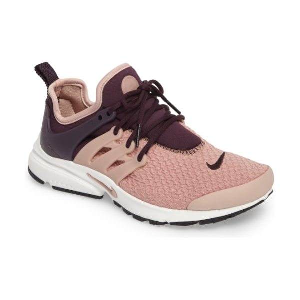 Nike air presto sneaker in port wine/ pink/ white - Crisp, clean and ready for the streets, a...