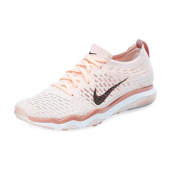 "Nike Air Zoom Fearless Flyknit Sneaker in pink - Nike flyknit sneaker with signature check at side. 1.3""..."