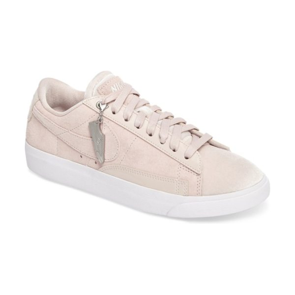 Nike blazer low lx sneaker in silt red/ brown/ white - Minimal stitching and edgy, deconstructed styling...