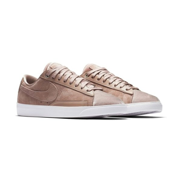 Nike blazer low lx sneaker in particle pink/ silt red/ white - Minimal stitching and edgy, deconstructed styling...