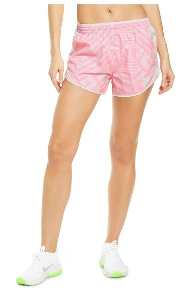 Nike dry tempo running shorts in digital pink/ reflective silv