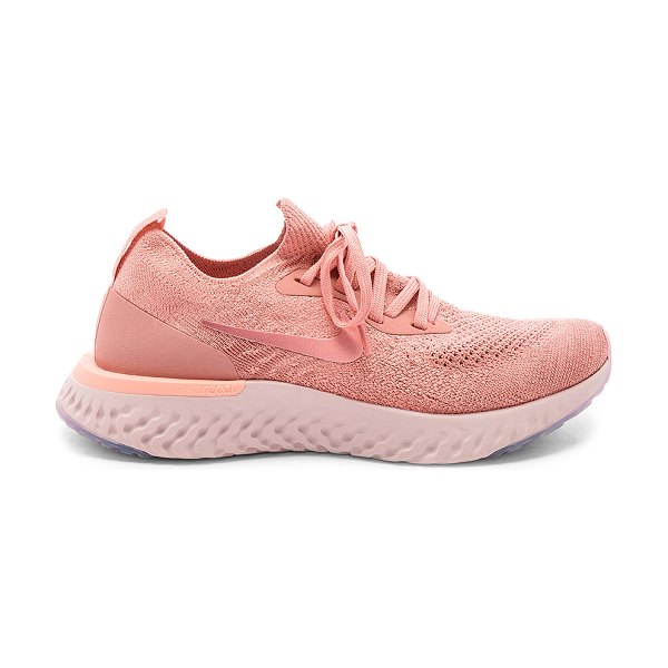 Nike epic react flyknit sneaker in rust pink  pink tint & tropical pink - Nike Epic React Flyknit Sneaker in Pink. - size 9 (also...