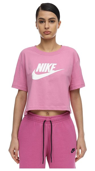 Nike Nsw cropped t-shirt in pink