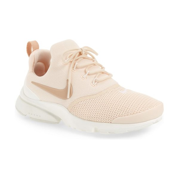 Nike presto fly sneaker in pink - Waffle-knit mesh brings stretchy breatheability and...