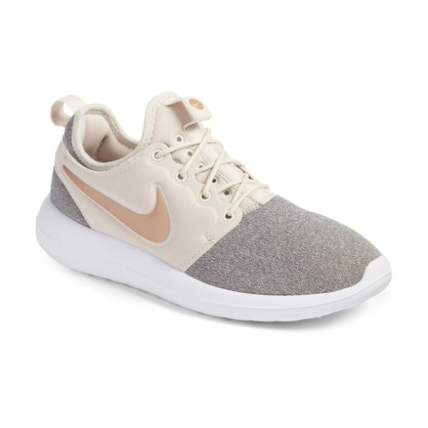 Nike roshe two knit sneaker in brown/ black/ white - Multiple eyelets add to the breathability of a stretchy...