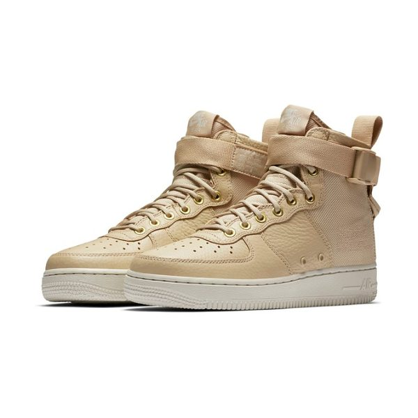 Nike sf air force 1 mid sneaker in mushroom/ mushroom/ light bone - A reboot of the iconic Nike Air basketball shoe gets a...