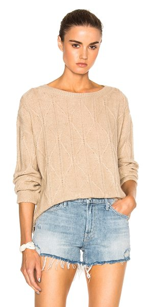 Nili Lotan Nili Lotan Ali Sweater in neutrals - 100% cashmere.  Made in China.  Dry clean only.  Cable...