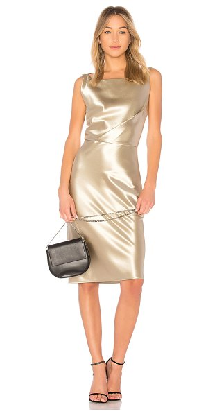 Nili Lotan Anne Dress in metallic gold - Silk blend. Dry clean only. Partially lined. Draped...