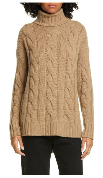 Nili Lotan brynne cashmere cable sweater in beige