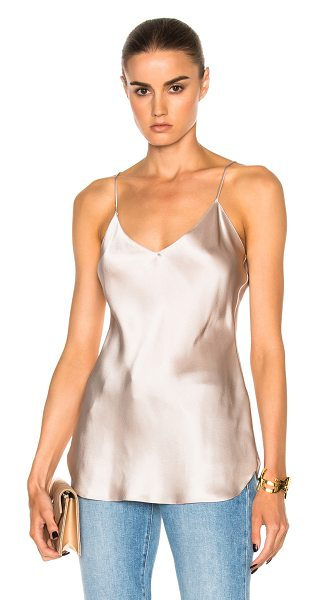 NILI LOTAN Isabella Cami Top in blush - 100% silk. Made in USA. Dry clean only. Adjustable...