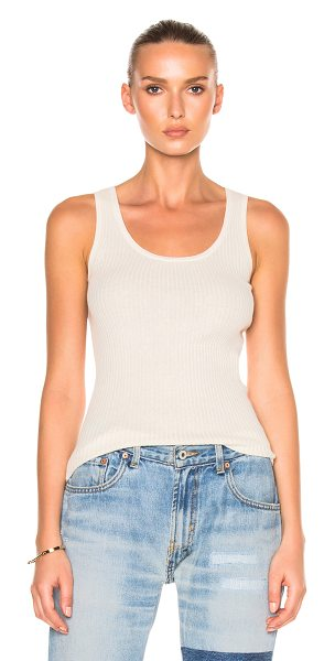 NILI LOTAN Robyn Tank - 85% cotton 15% cashmere. Made in China. Dry clean only....