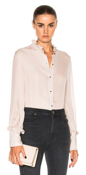 Nili Lotan Regis Top in blush - 100% silk. Made in USA. Dry clean only. Button front...
