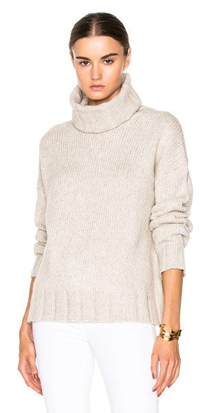 Nili Lotan Turtleneck sweater in neutrals - 55% wool 23% yak 22% nylon.  Made in China.  Knit...
