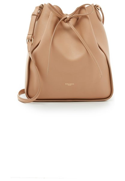 Nina Ricci Leather bucket bag in camel