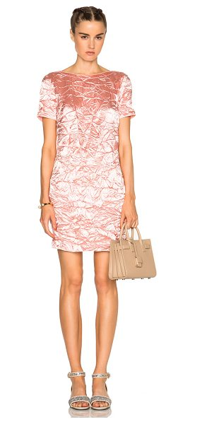 Nina Ricci Short Sleeve Mini Dress in pale pink - Self: 65% acetate 26% wool 9% silkContrast Fabric: 74%...
