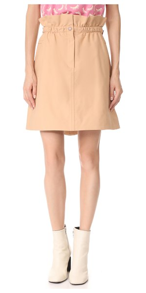 Nina Ricci skirt in nude - An A-line Nina Ricci miniskirt with a paper-bag waist....